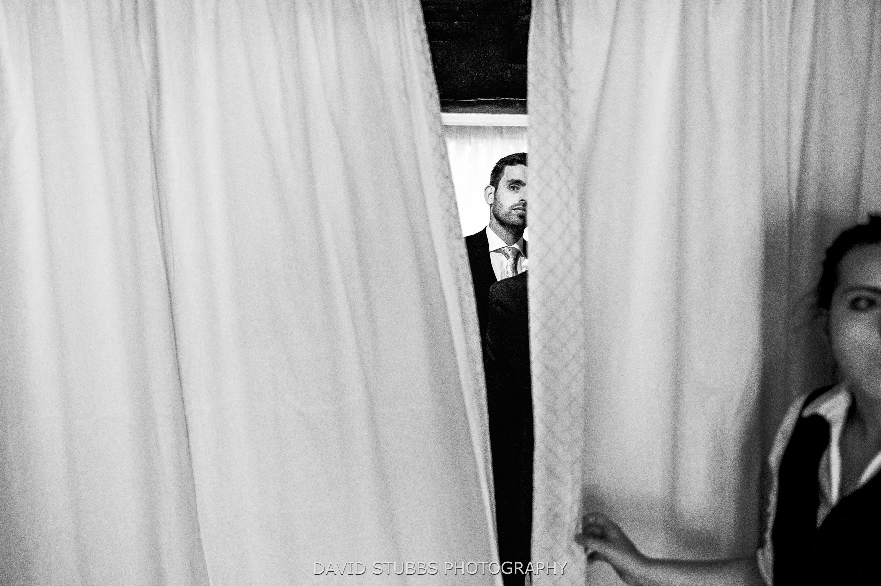 peering through curtains first look