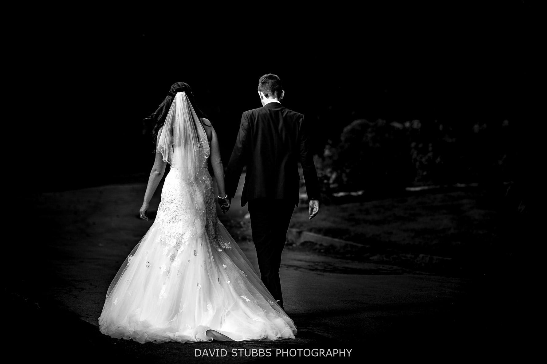 moody black and white photo