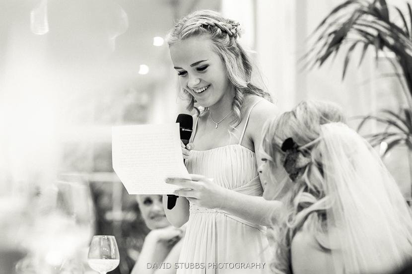 brides daughter doing speech