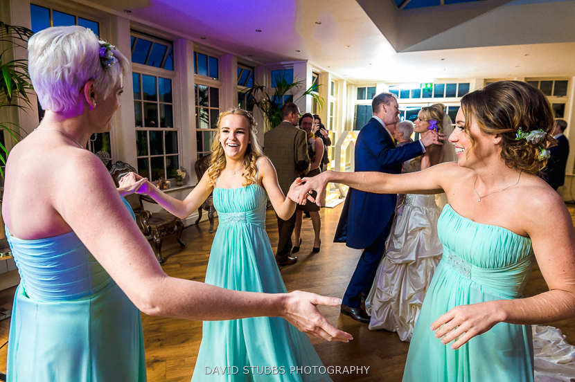 bridesmaids in circle