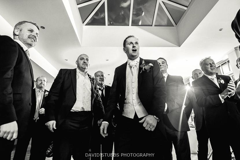 groom and boys