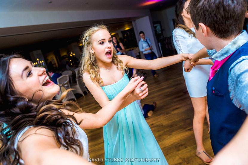 brides daughter celebrating