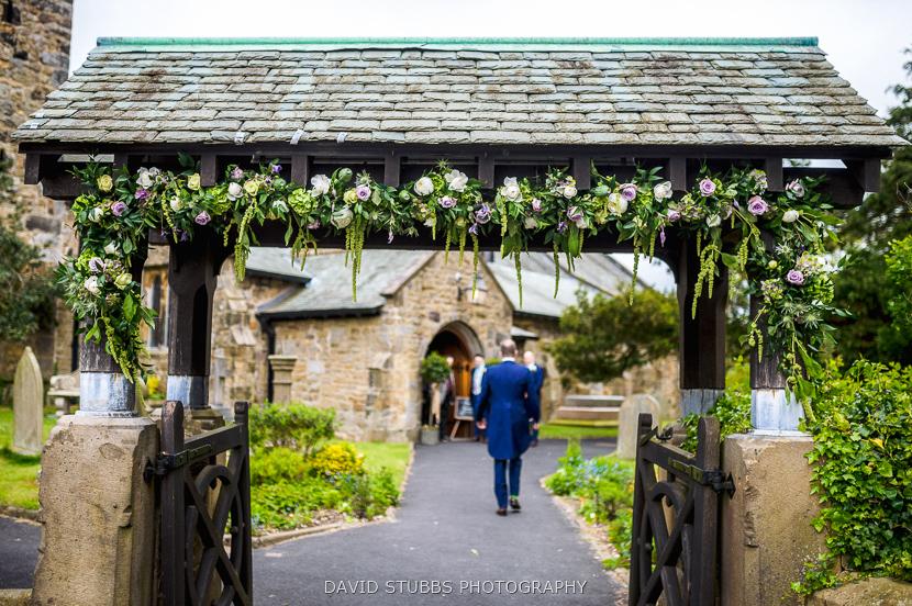 flowers outside gate
