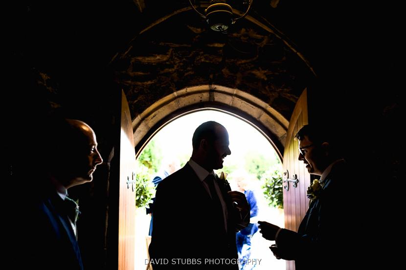 silhouette in door