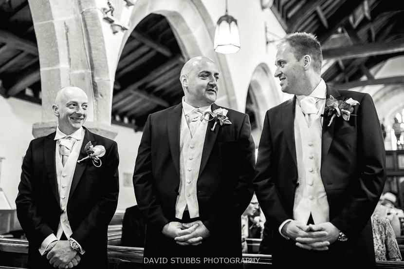 groom standing waiting