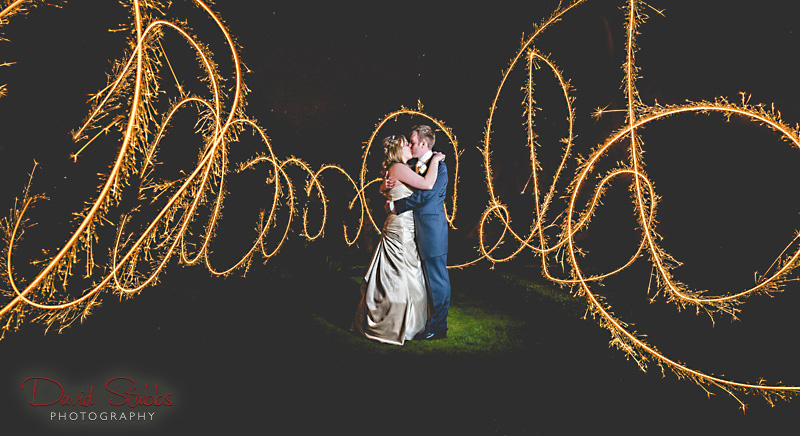 wedding light painting