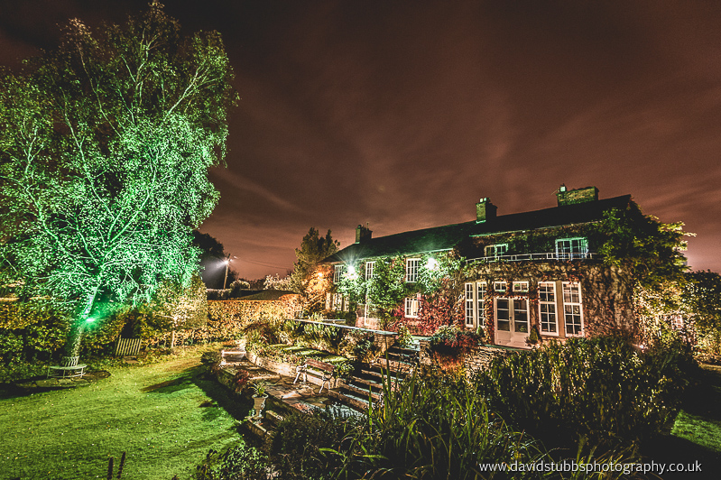 cheshires hilltop country house at night