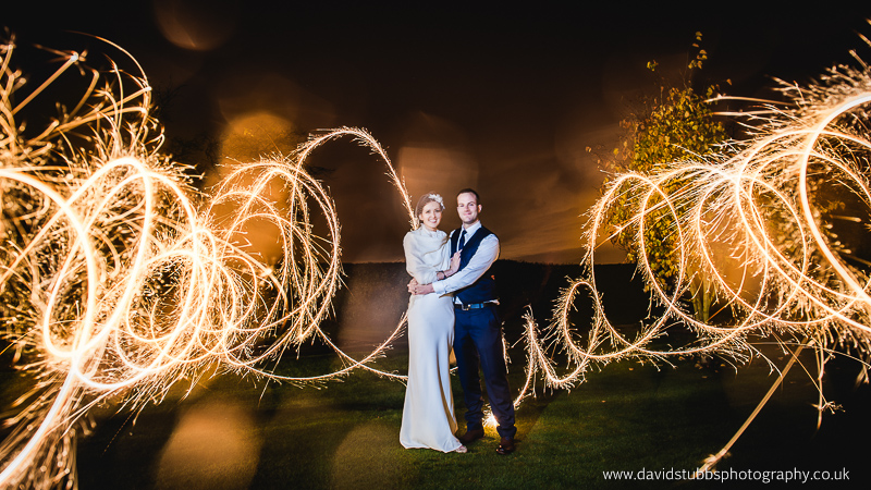 light painting sparklers