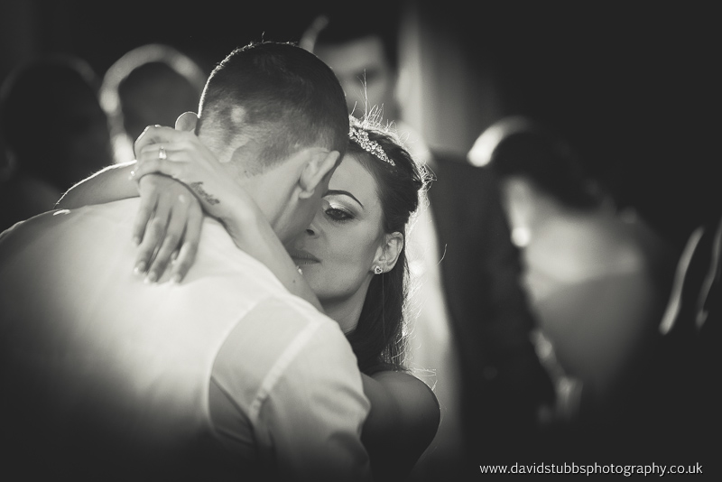 close up of their first dance