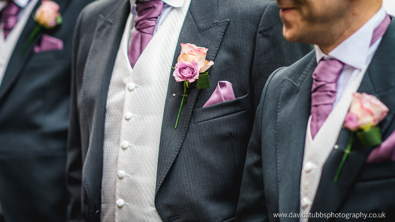 groomsmens flowers and colours