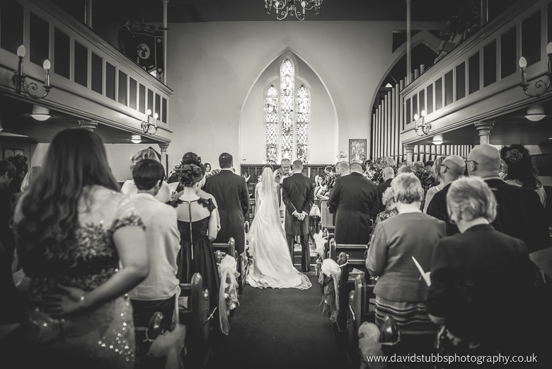 wedding service in chirch before Stirk house wedding