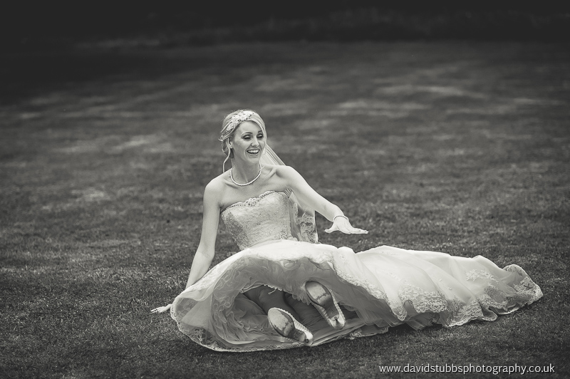 bride falling over