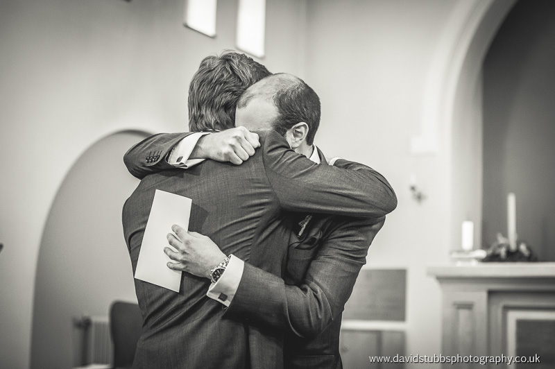 groom and best man moment