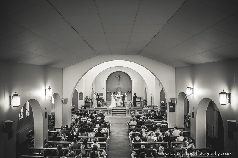wide photo of the entire wedding