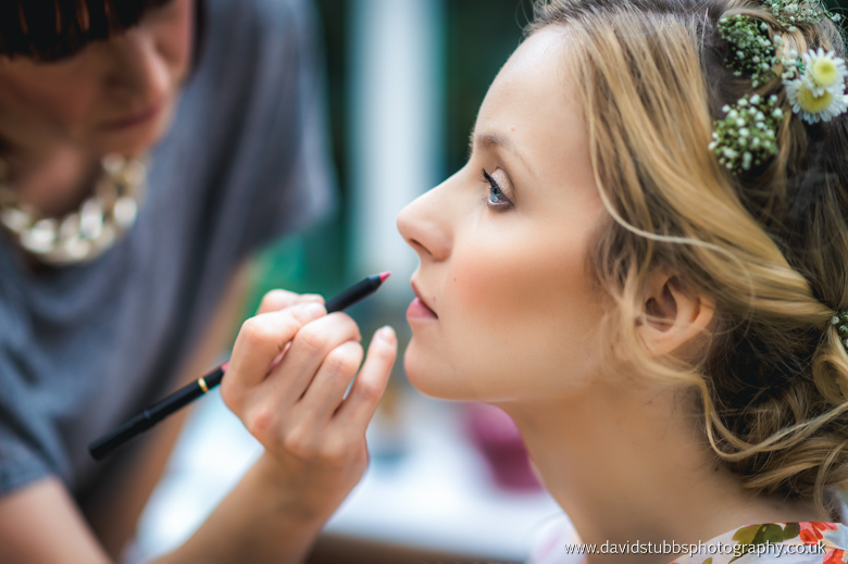 hair and make-up in the mornign of mere