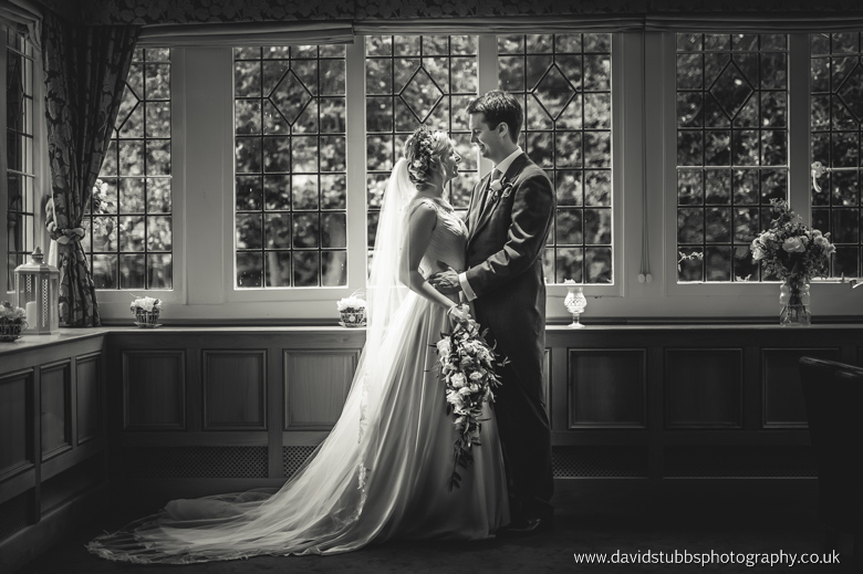 black and white photo in the window