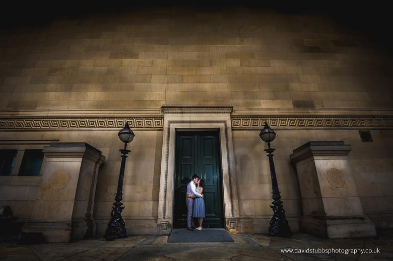 couple outside door