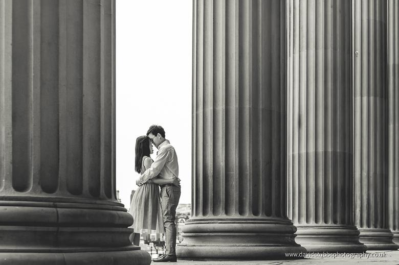 man and woman kiss at liverpool