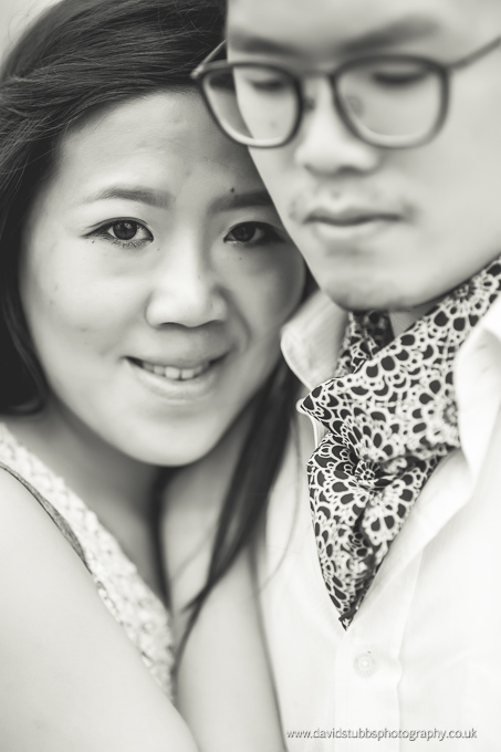 close up black and white couple