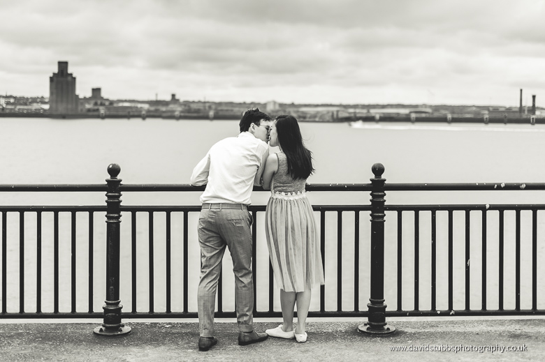 man and woman albert dock river mersey