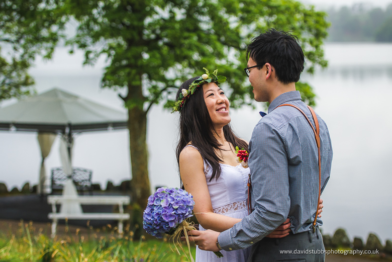 newly engaged couple lake district