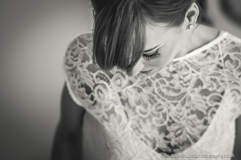 eye lash wedding photo in black and white