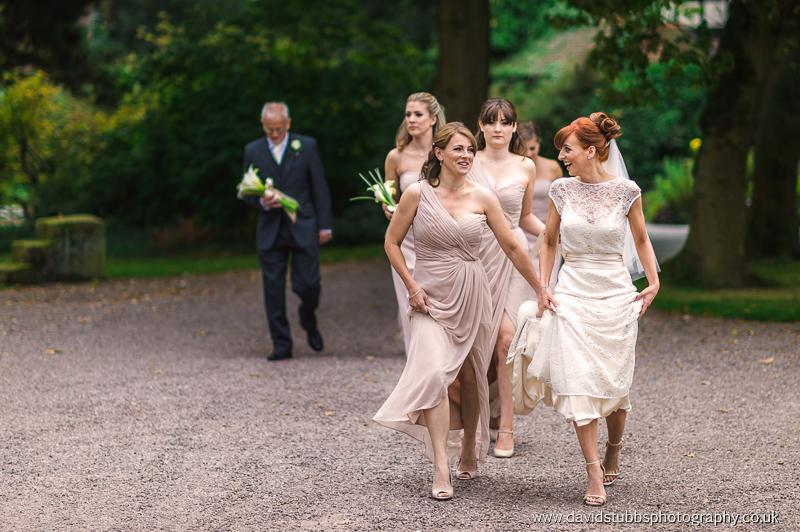walking to wedding