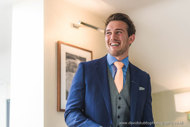 groom laughing colour
