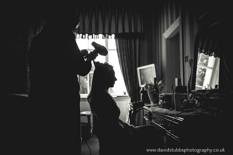 bride silhouette hair