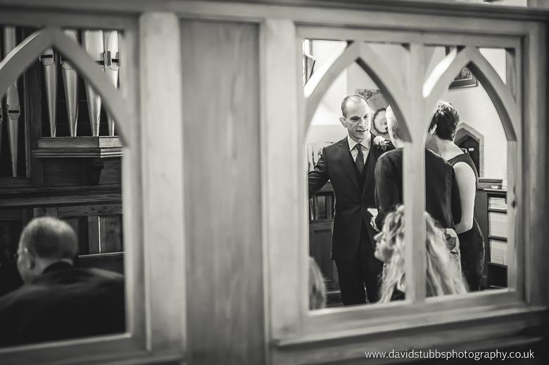 husband black and white church