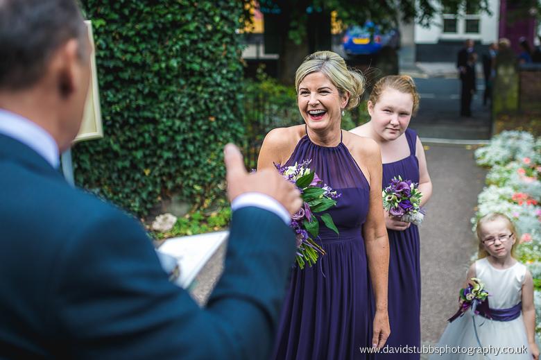 bridesmaids purple dresses