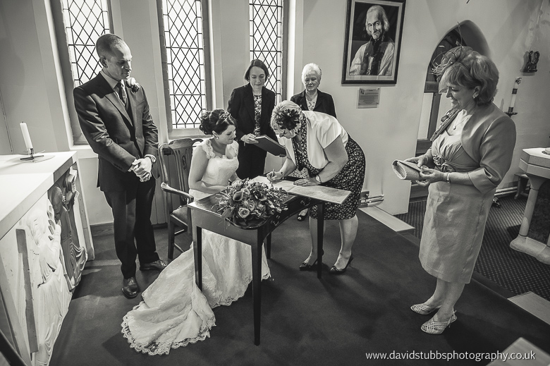 signing of the register