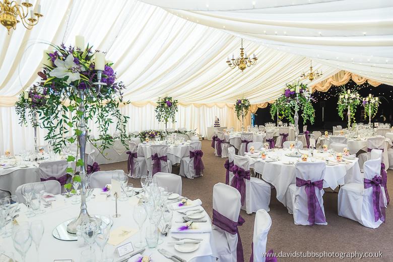 Nunsmere Hall marquee set-up wedding