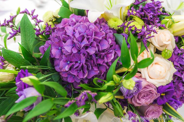 close up of wedding flowers