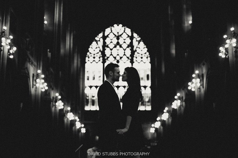 silhouette in town hall