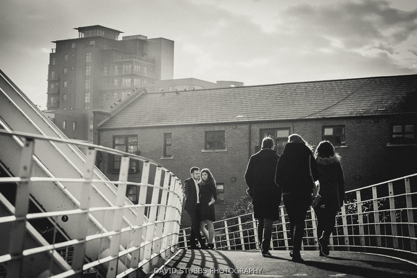 bride over manchester canal