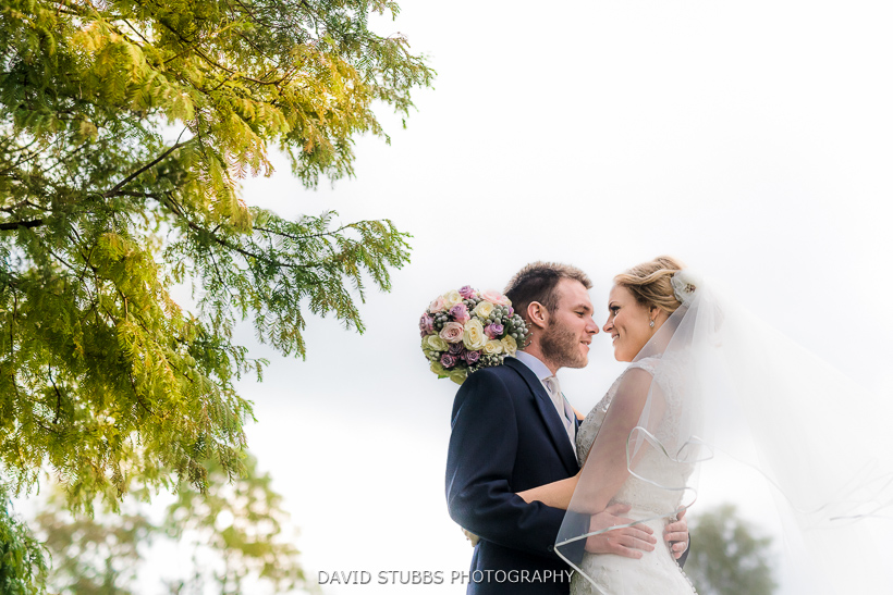 man and wife colour photo under tree