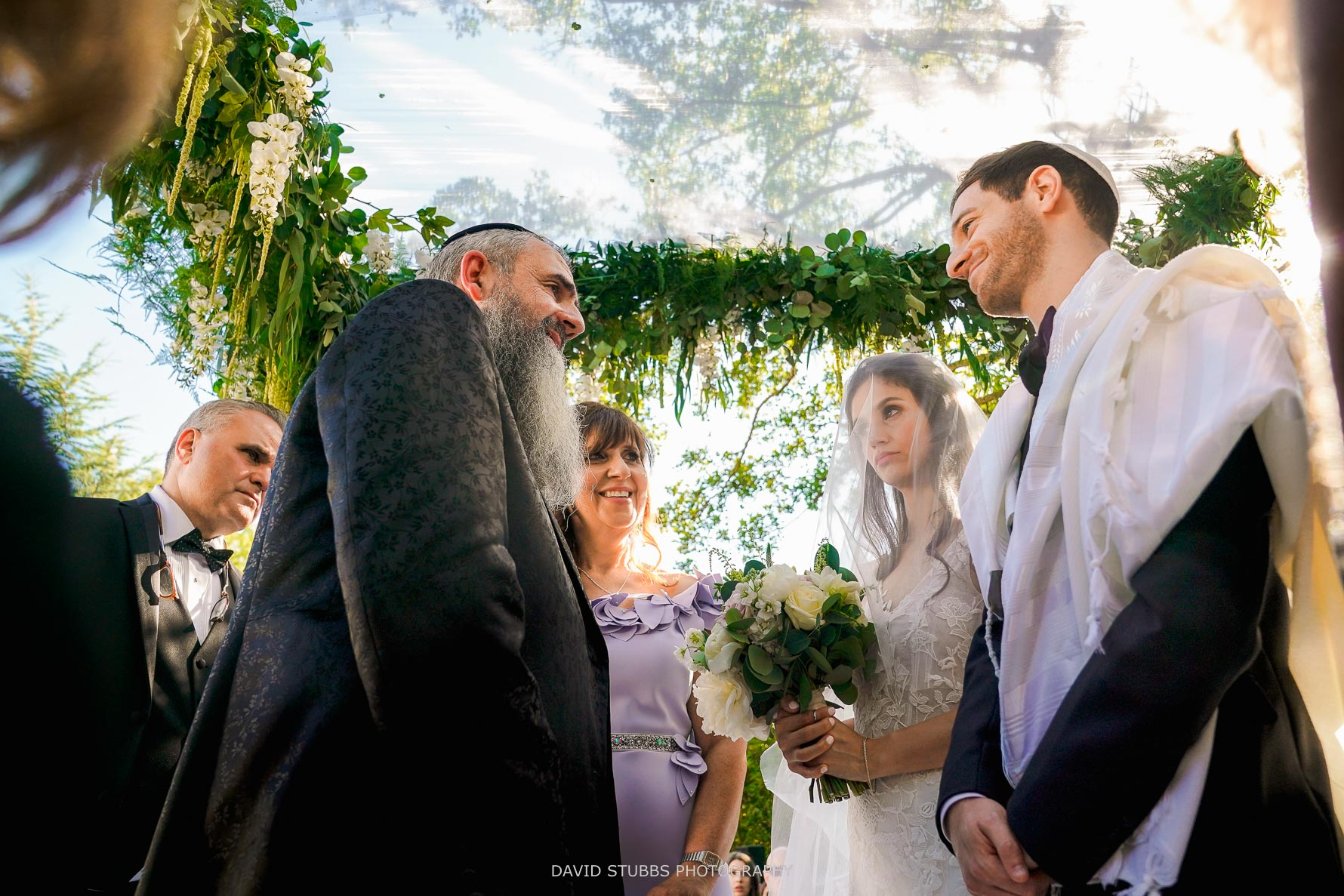 jewish outdoor ceremony under the chuppah