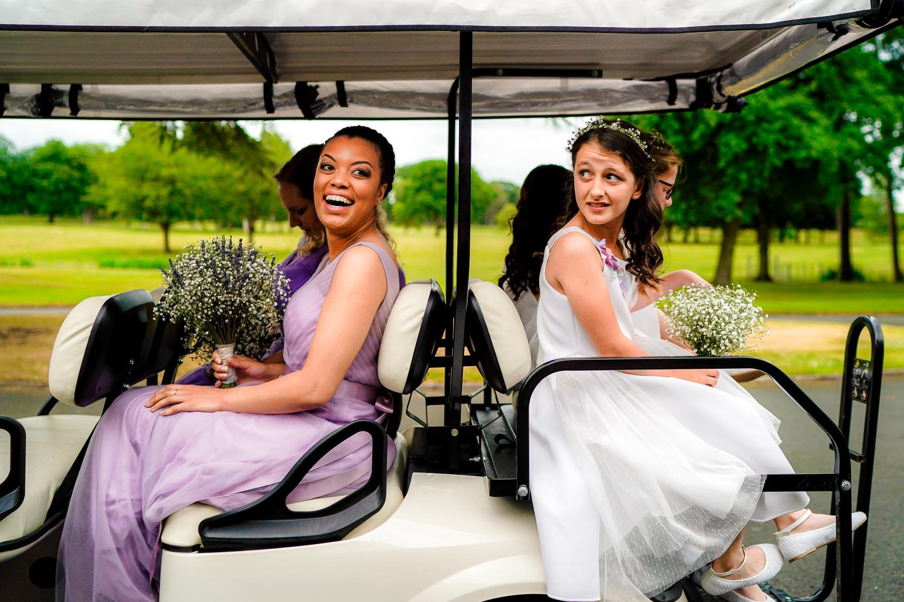 fun times on golf cart