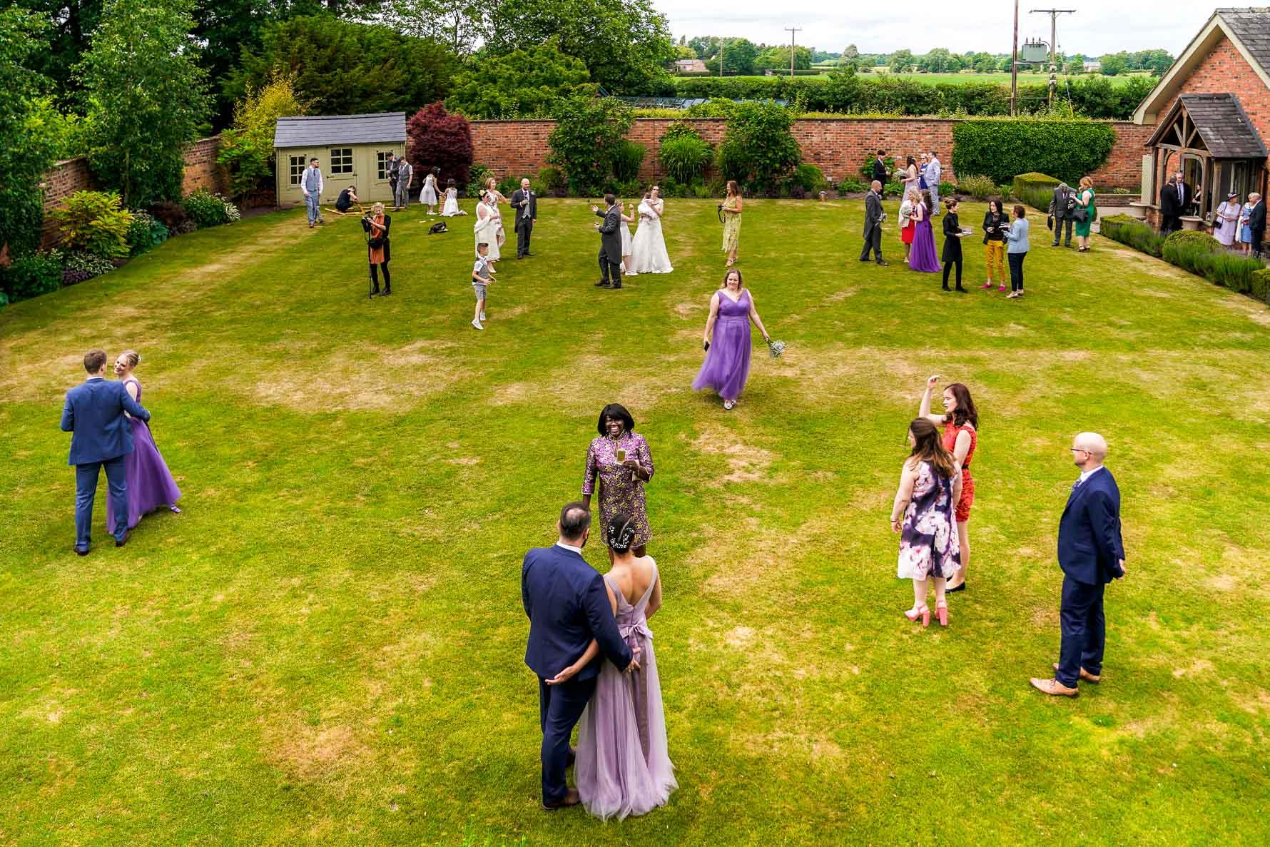 wedding photography at Colshaw Hall