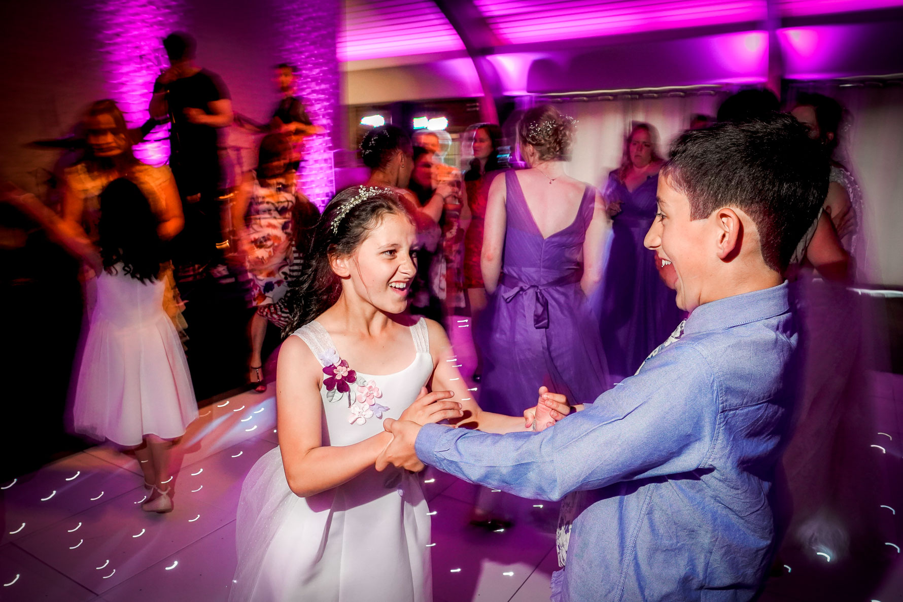 on the dance floor with dj