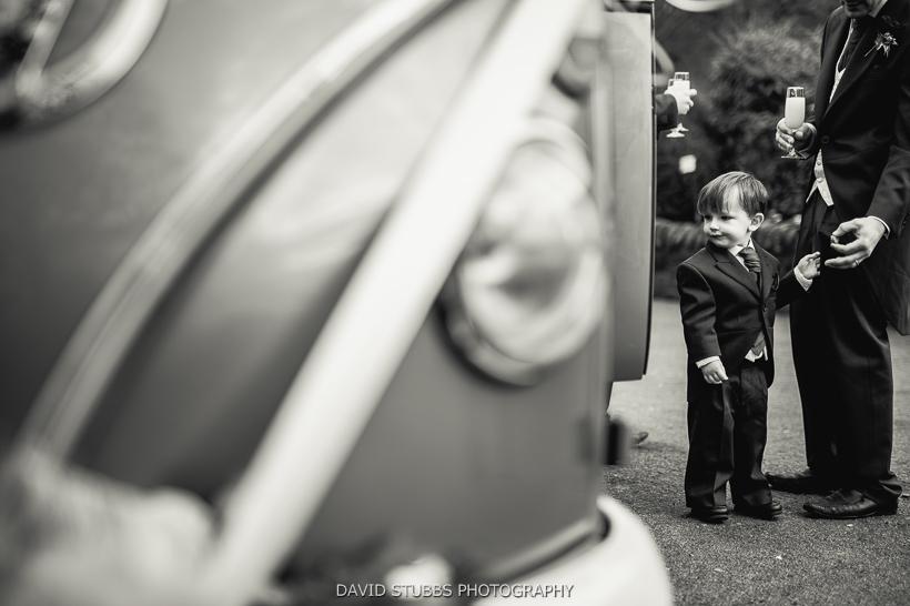 wedding car and little boy