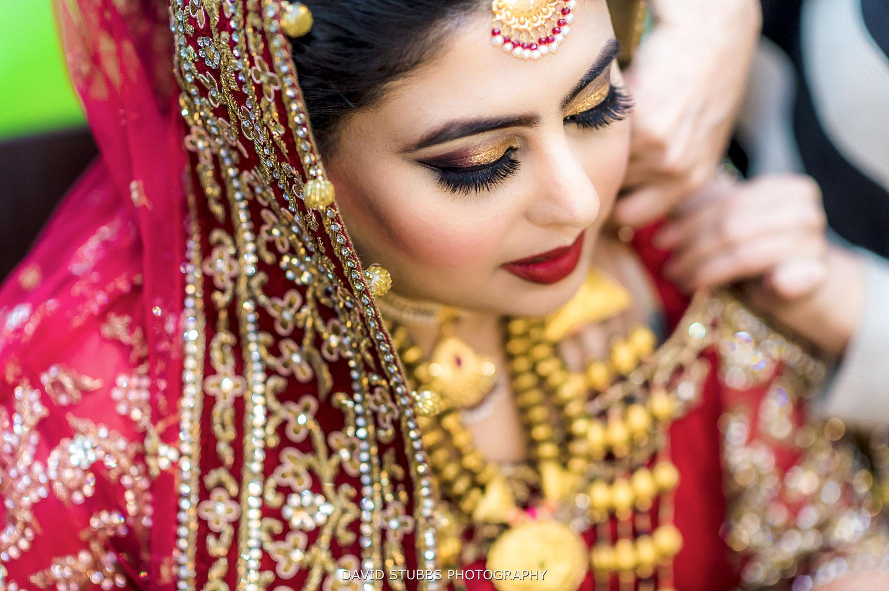 bride looking great in her wedding dress
