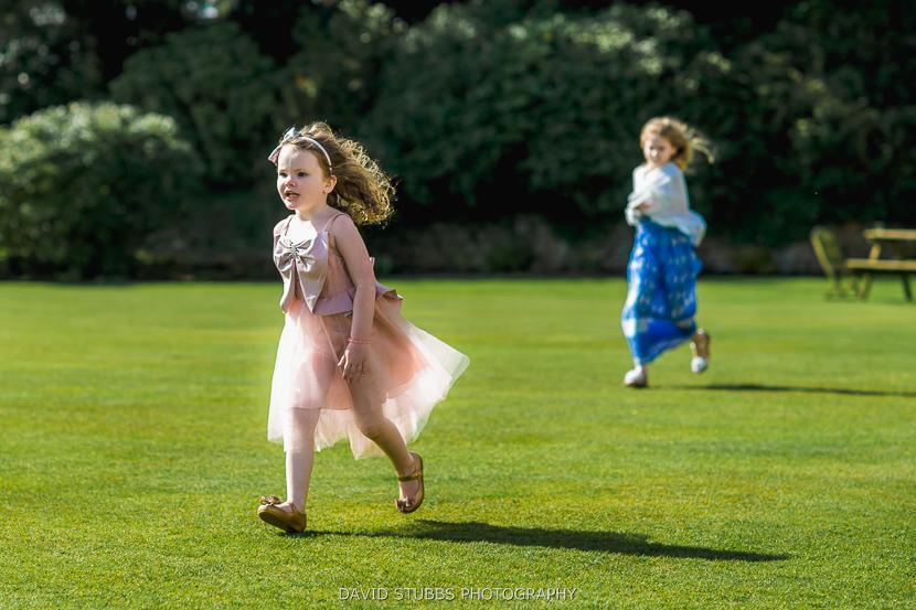 girls running about