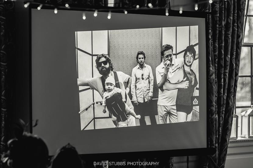 hangover slideshow on screen