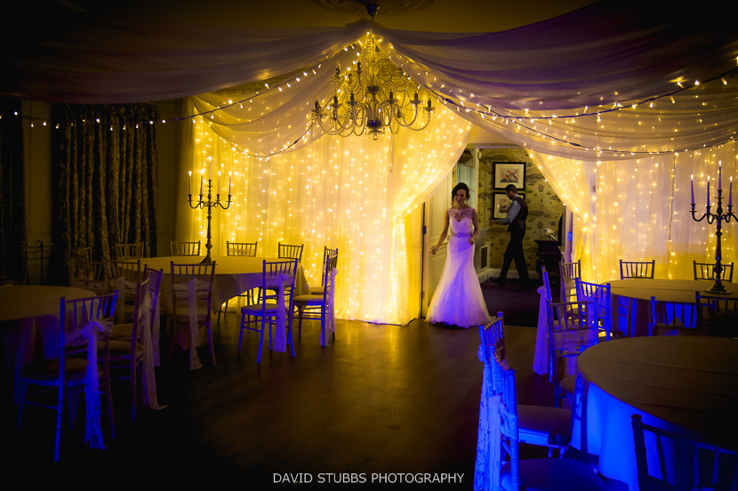 bride looking at room