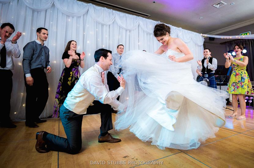 groom and bride garter