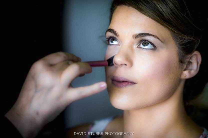 bride make up applied