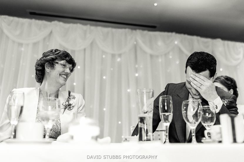 groom during best man speech