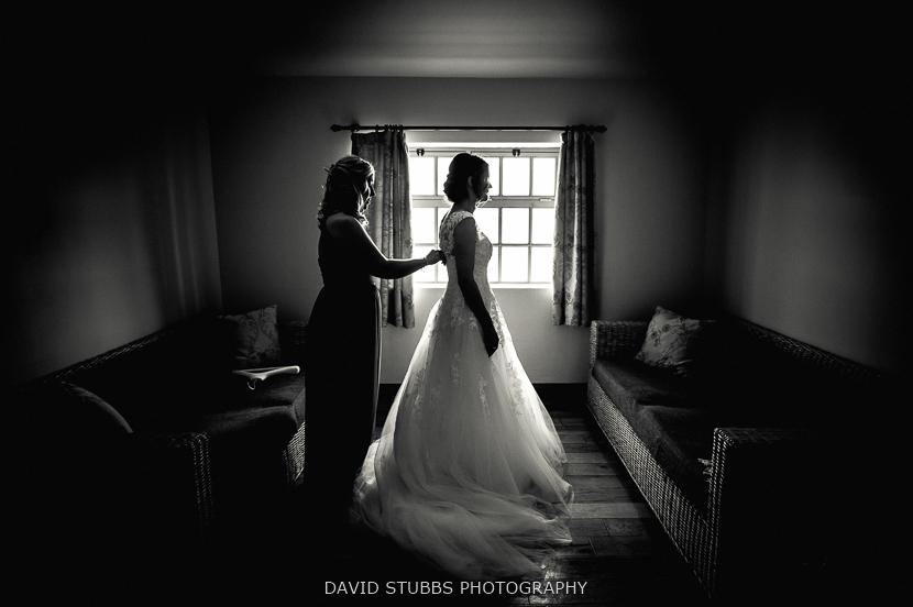 woman in wedding dress silhouette